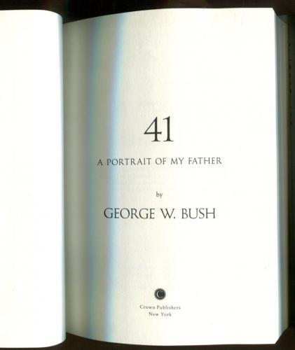 George H.W. Bush Signed Book Portrait Of My Father Autographed Beckett BAS