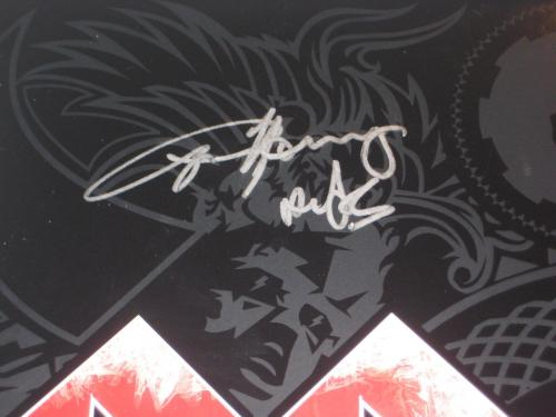 AC/DC Signed BLACK ICE LP cover w/ Beckett LOA - Angus, Malcolm, Williams & Rudd