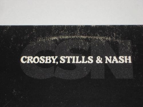 STEPHEN STILLS & GRAHAM NASH Signed CSN LP COVER w/ Beckett COA