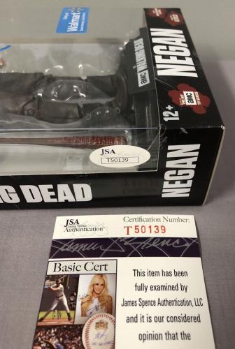 Jeffrey Dean Morgan SIGNED Negan Walmart Figure w/ JSA COA ~ The Walking Dead