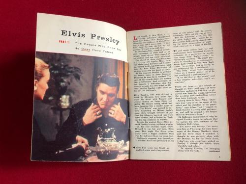 "1956, Elvis Presley, ""TV Guide""  (No Label) Scarce (1st Cover)"