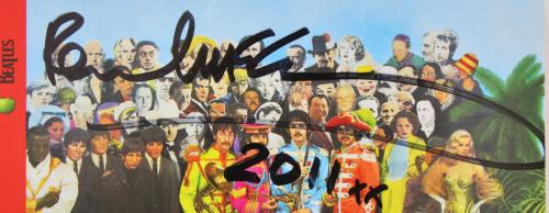 Paul McCartney Beatles Signed Sgt. Pepper's Cd Cover BAS #A78562