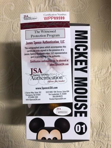 Bret Iwan Signed Autographed Mickey Mouse Funko Shop Pop Disney Orange JSA COA 1