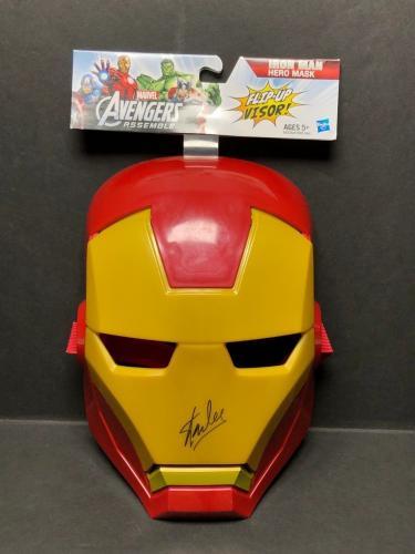 Stan Lee Signed Marvel Avengers :Iron Man Hero Mask *Avengers JSA N64571