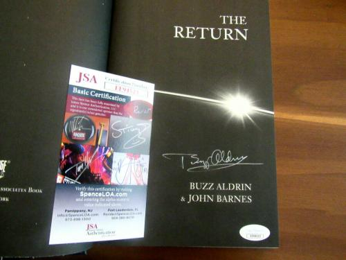 Buzz Aldrin Apollo 11 Astronaut Signed Auto The Return 1st Edition Book Jsa