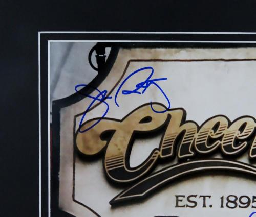 Wendt & Ratzenberger Autographed Matted 8x10 Cheers Sign- Beckett Auth *Blue