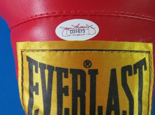 "JAKE LAMATTA SIGNED 12oz EVERLAST BOXING GLOVE Insc. "" RAGING BULL "" JSA D31673"