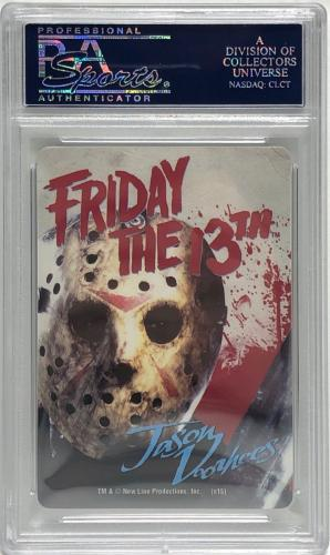 Ari Lehman Signed Friday The 13th Playing Card *Jason Voorhees PSA 84126629