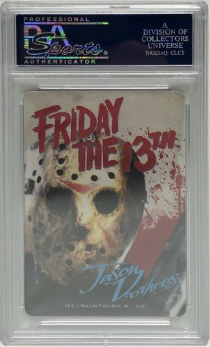 Ari Lehman Signed Friday The 13th Playing Card *Jason Voorhees PSA 84126624