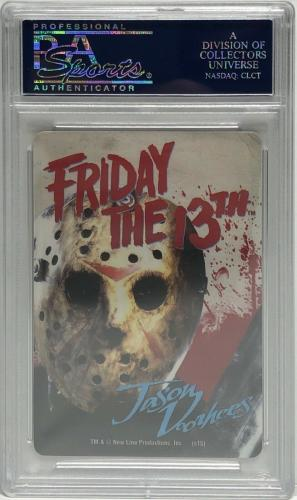 Ari Lehman Signed Friday The 13th Playing Card *Jason Voorhees PSA 84126623