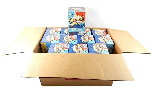 Lot of (21) Marvel Superhero Collector Boxes (12 Items Per Box Cards Dog Tags +)