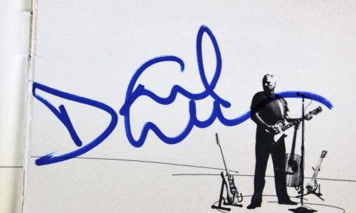 Pink Floyd David Gilmour Signed On An Island Cd Cover Page JSA #Z85157