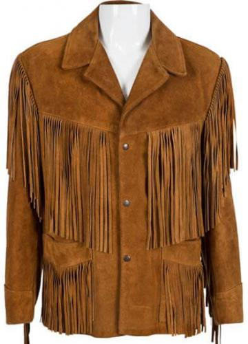 Stevie Ray Vaughan Signed Suede Jacket COA