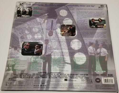 WILL SMITH & DANNY ELFMAN Signed MEN IN BLACK Laserdisc Cover~ Beckett BAS COA