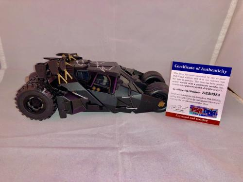 Christian Bale Hand Signed Batmobile 1:24 The Dark Knight PSA DNA CERT