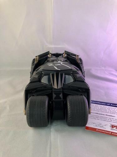 Christian Bale Hand Signed Batmobile 1:24 The Dark Knight PSA DNA CERT