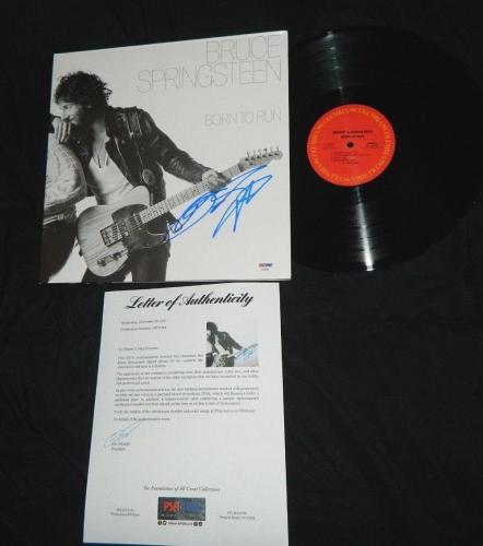 Bruce Springsteen Signed Album Born To Run The Boss Springsteen Autograph Psa