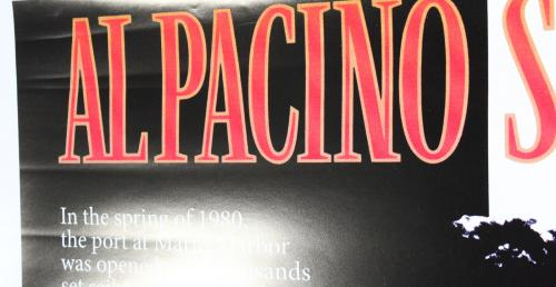 Al Pacino Scarface Signed 27x40 Poster (Slight Damage) PSA/DNA Itp #5A80173
