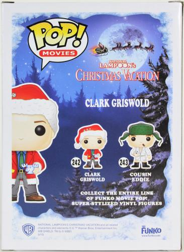 Chevy Chase Christmas Vacation Signed Funko Pop Figure w/ Red Sig BAS Witnessed
