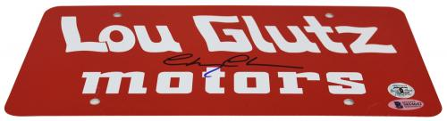 Chevy Chase Vacation Signed Lou Glutz Motors License Plate BAS Witness
