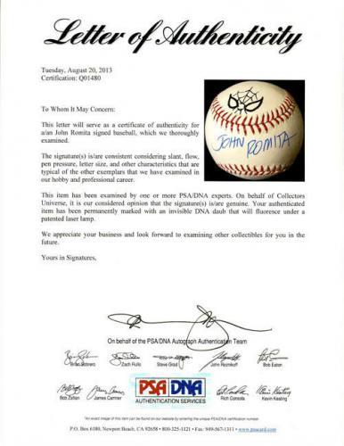 John Romita SR SIGNED ROMLB Baseball + Spider-Man ART Marvel PSA/DNA AUTOGRAPHED