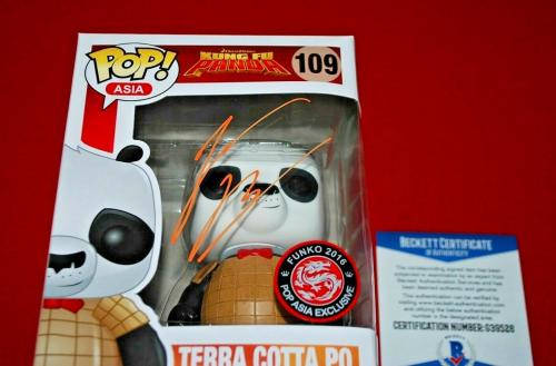 Jack Black Kung Fu Panda TERRA COTTA PO signed Funko Pop Beckett COA 1