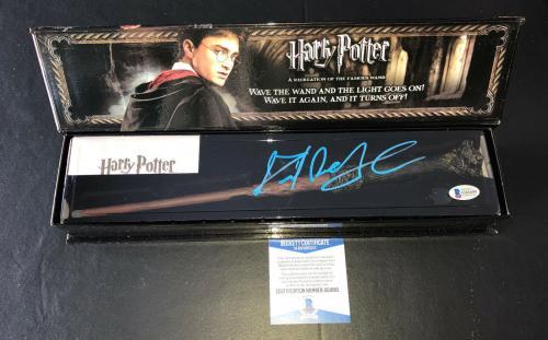 Daniel Radcliffe Signed Autograph Harry Potter Illuminating Wand Bas Beckett 9