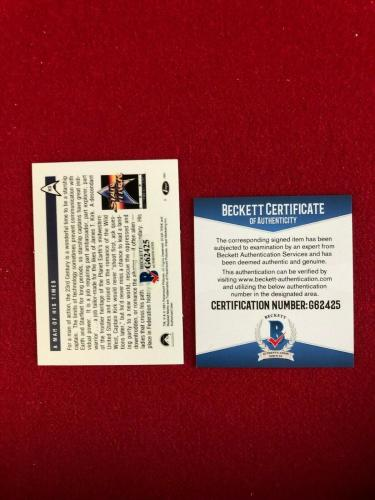 "1991, William Shatner (Capt. Kirk), ""Autographed"" (Beckett) Star Trek Foil Card"