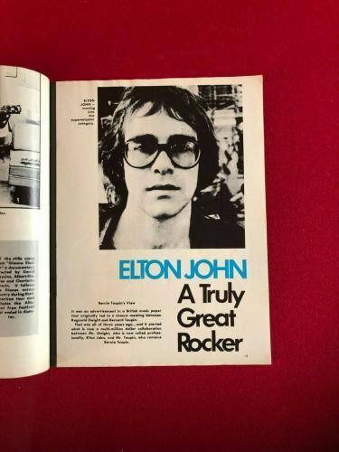 "1971, Elton John, ""HIT PARADER"" Magazine (No Label) Scarce / Vintage"