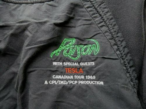 POISON Vintage REAL Crew 1989 Tour Band Issued Pullover LRG Sweatshirt SS1