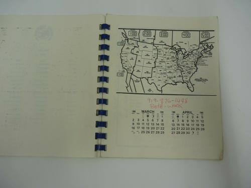 Vintage KING KOBRA Tour Itinerary March April 1986 Carmine Appici