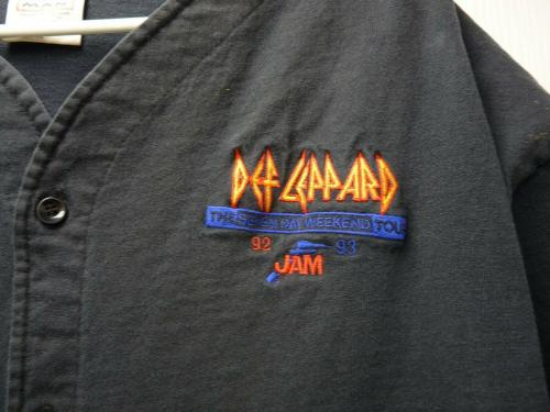 Def Leppard 1992/93 7 Day Weekend Real World Tour Issued XL Jersey Shirt SS2