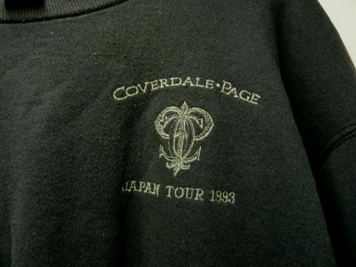 David Coverdale Jimmy Page Japan 1993 Crew Tour Band Issued Pullover Sweatshirt
