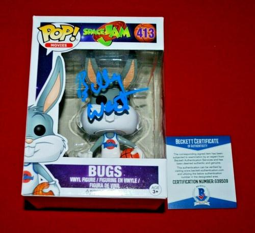 BILLY WEST space jam  signed bugs signed funko pop beckett BAS COA