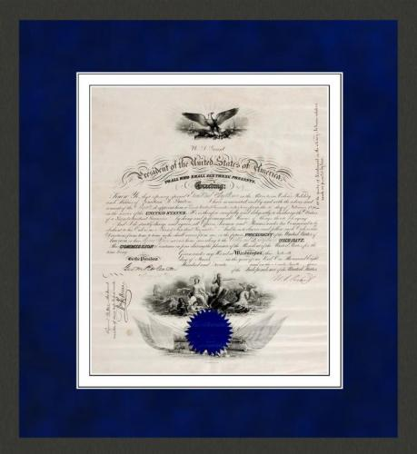 A Rare President Ulysses S. Grant Naval Appointment, 1870. JSA