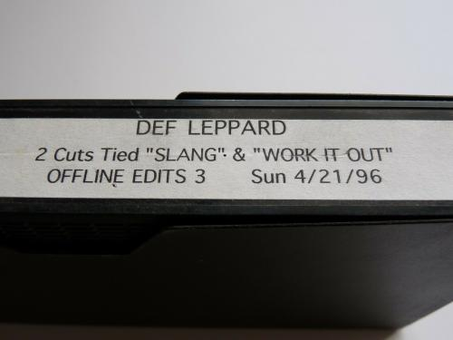 Def Leppard Rare 2 Cuts From Slang Work It Out Vhs Tape Offline Edits 3 4/21/96