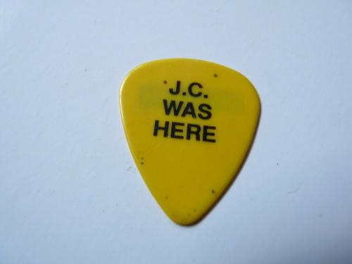 Bad English J.c. Was Here Black On Yellow Jonathan Cain Tour Issued Guitar Pick