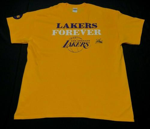Stan Lee Signed Los Angeles Lakers T-Shirt PSA W14031