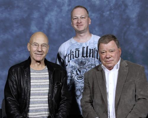 William Shatner Star Trek Signed Autographed Color 8x10 Photo Psa Dna Aa33708