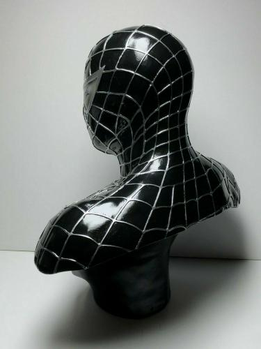 Stan Lee Signed Black Spider-Man Life Size Bust *Marvel PSA X01579/Exclesior COA