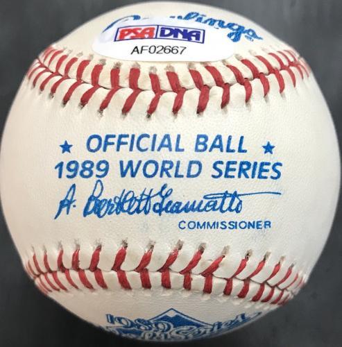 George H.W. Bush Autographed 1989 World Series Ball, Bush 41, PSA LOA