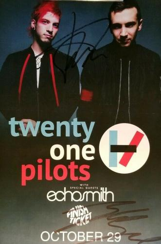 21 Twenty One Pilots Tyler & Josh Band Signed Gig Poster PSA/DNA AUTHENTIC