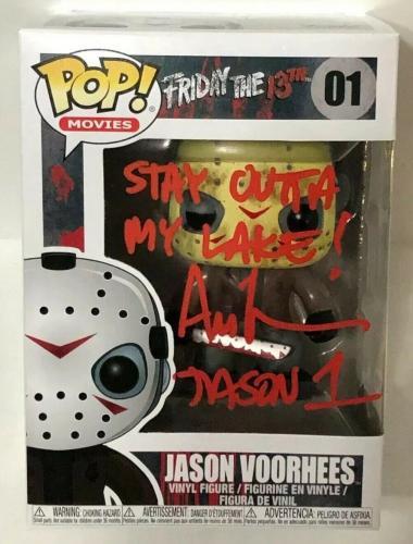 "Ari Lehman Signed Friday The 13th:Jason Funko Pop #01 ""Stay Outta My Lake"" PSA"