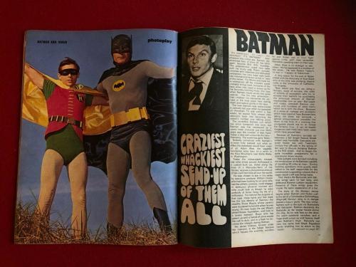 "1967, BATMAN, ""Photoplay"" Magazine (No Label) Scarce / Vintage"