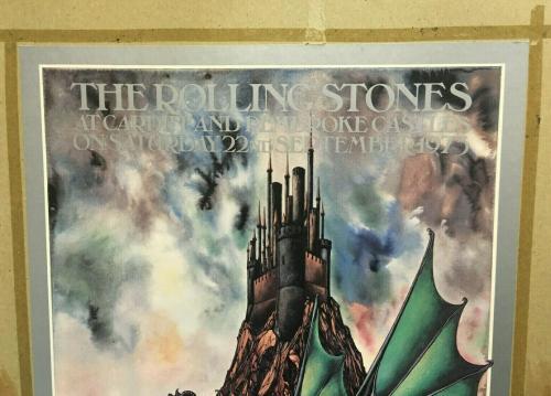 Rolling Stones Cardiff Pembroke Castles 1973 ORIGINAL 20x30 Concert Poster RARE