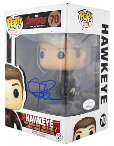 Jeremy Renner Avengers Signed Hawkeye #70 Funko Pop Vinyl Figure JSA #WPP423001