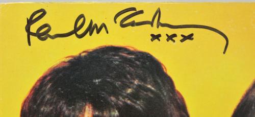 "Paul McCartney Beatles Signed Sgt. Pepper""s Album Cover Autographed BAS #A71907"