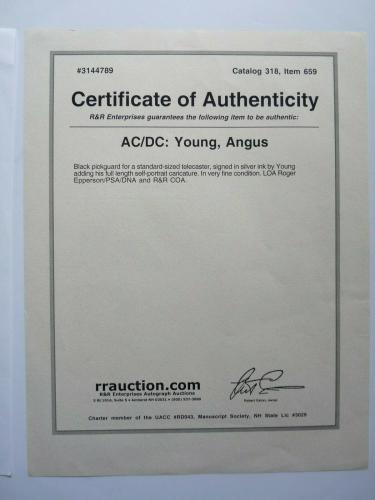 Angus Young AC/DC Signed Autographed Guitar W/ Sketch PSA REAL & RR Certified