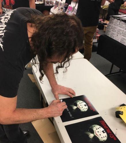 "ARI LEHMAN signed Friday the 13th ""JASON 1"" 8x10 ~ Beckett BAS COA + Photo Proof"