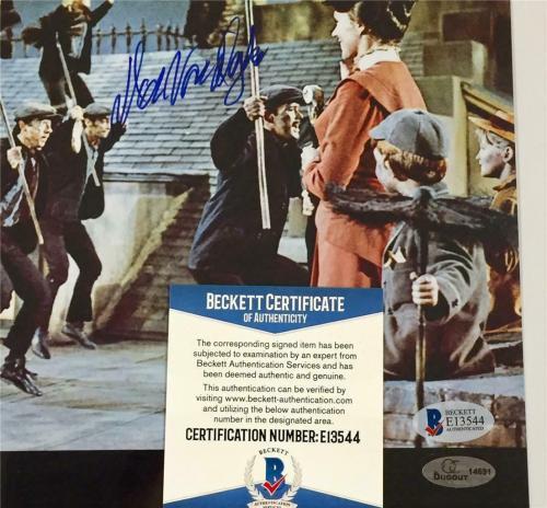 DICK VAN DYKE Autograph Disney MARY POPPINS Signed 8x10 Photo ~ Beckett BAS COA